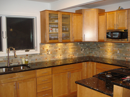 Kitchen Countertops - Material and Color Choices - Rhode ... on What Color Cabinets Go Best With Black Granite Countertops  id=81807